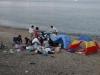 Piknik rodzinny na plaży